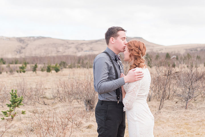 The Bride Wore Modest Mon Cheri To Her Icelandic Elopement