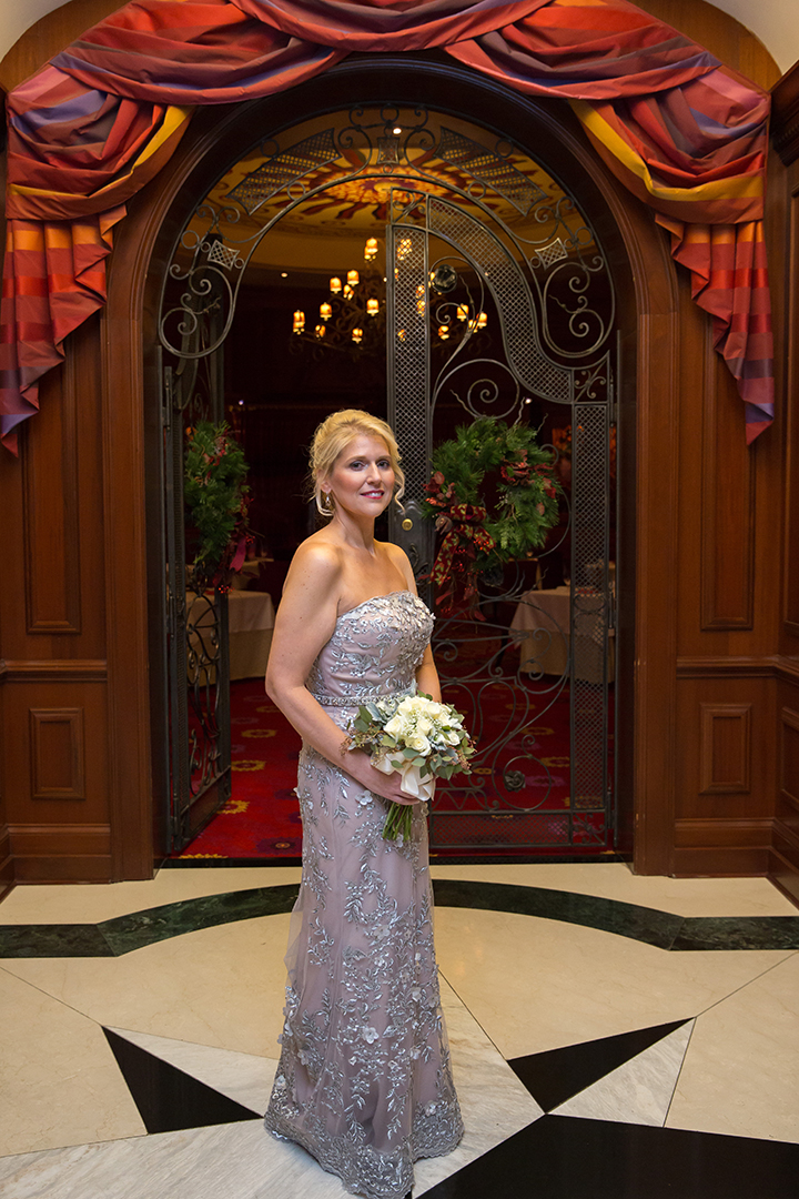 Montage by Mon Cheri's Metallic Embroidered Lace Gown Is Perfect For This Elopement