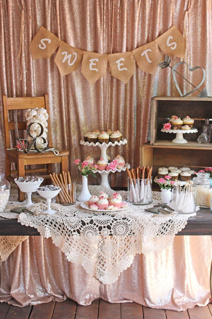 Vintage Wedding Dessert Table By Glorious Treats