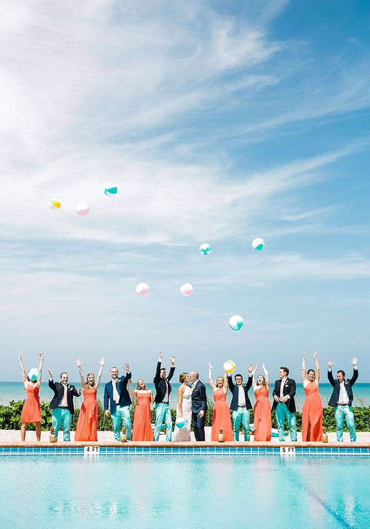 Summer Wedding Beach Ball Photo Op