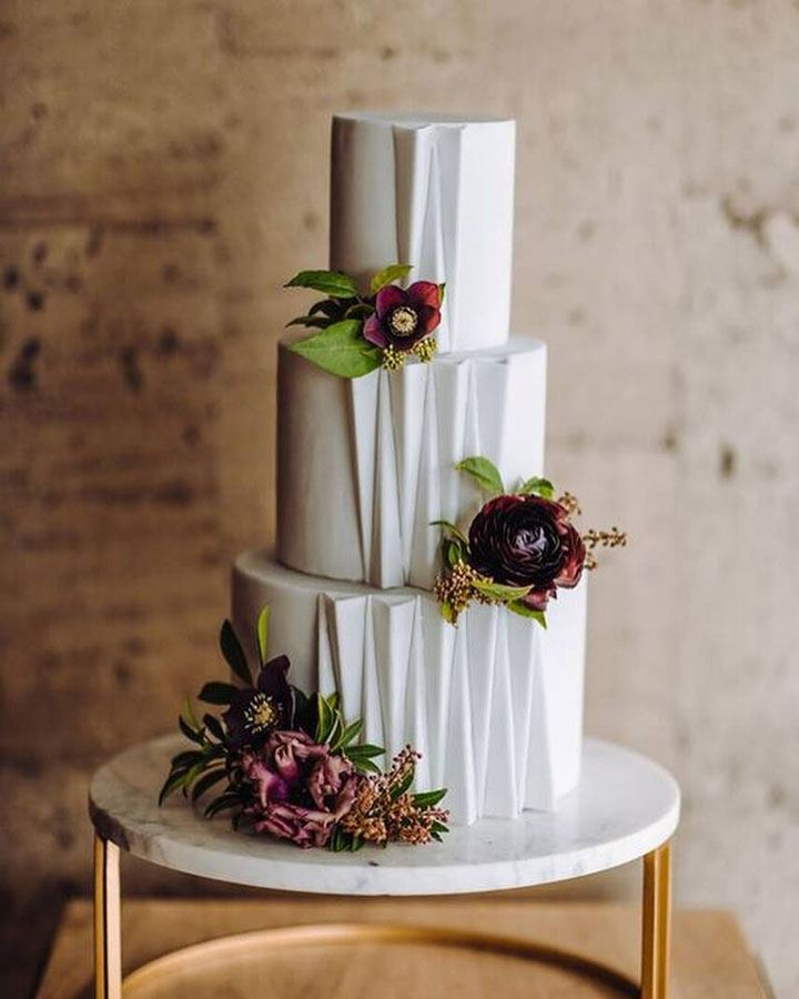 Paper Heart Patisserie's Architectural Inspired Wedding Cake
