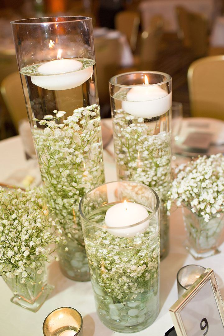 Submerged Baby's Breath For A Winter Wedding