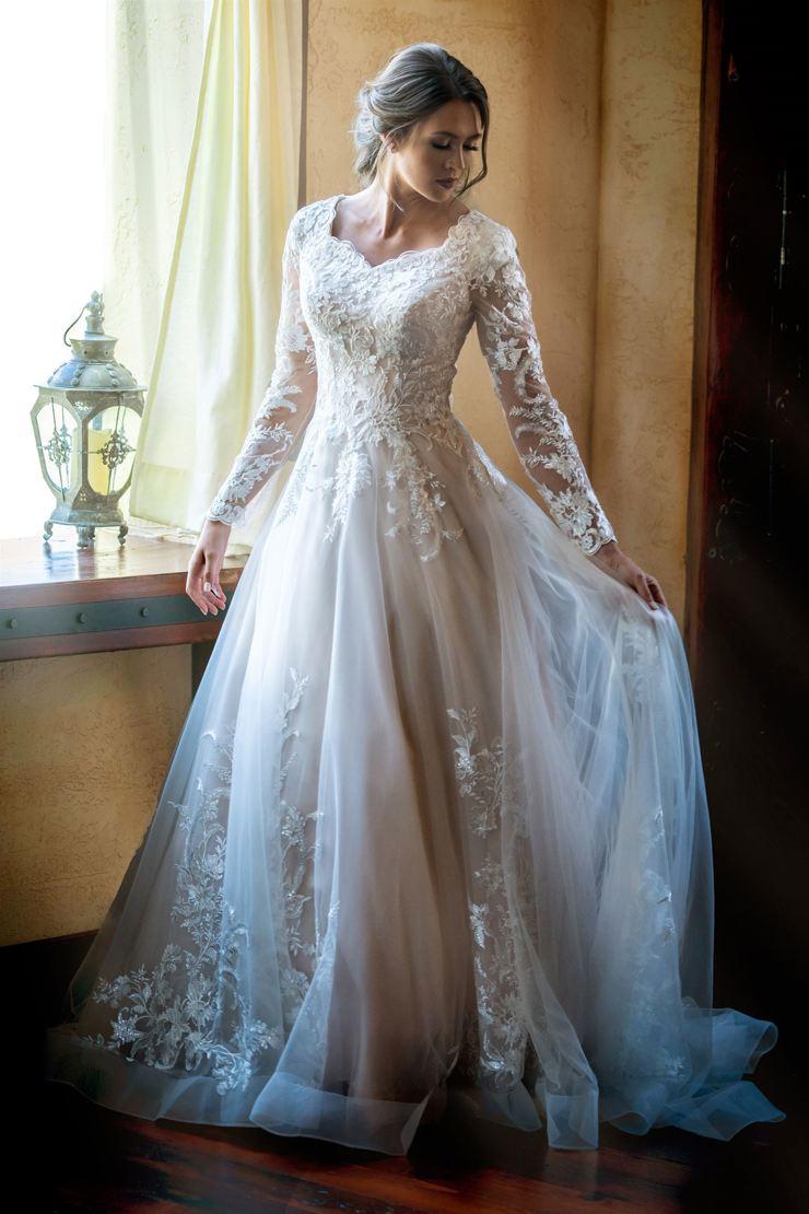 Unique Modest Wedding Dresses   Modest by Mon Cheri